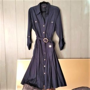 Jones New York Signature Navy Blue Dress
